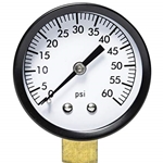 "2"" 0-100PSI 0.25"" BTM Mount Steel Pressure Gauge"